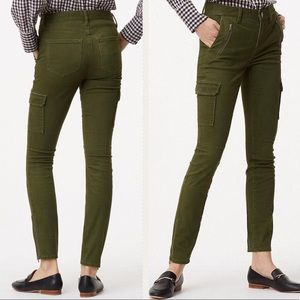 New Loft green skinny petite cargo pants size 10